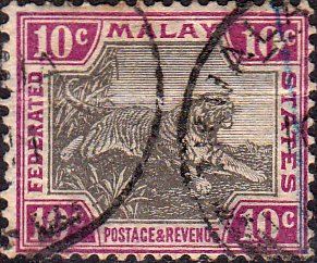 Federated Malay States 1904 SG 43 Tiger Fine Used