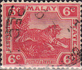 Federated Malay States 1922 SG 64 Tiger Fine Used