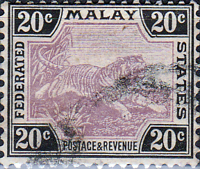 Federated Malay States 1922 SG 69 Tiger Fine Used