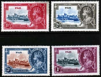 Fiji Stamps 1935 King George V Silver Jubilee Set Fine Mint