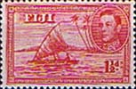 Fiji 1938 SG 252 Kamakua Canoe with Native Fine Mint