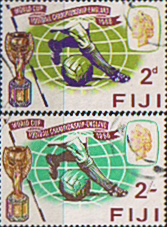 Stamps Fiji 1966 Football World Cup Set Fine Used