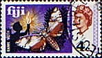 Postage Stamps Fiji 1969 SG 394 Hawk Moth Used Scott 263 Insect
