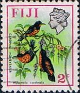 Postage Stamps Fiji 1971 Birds and Flowers Set Fine Used SG 436 Scott: 306