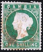 Gambia 1880 Queen Victoria Head SG 19B Used