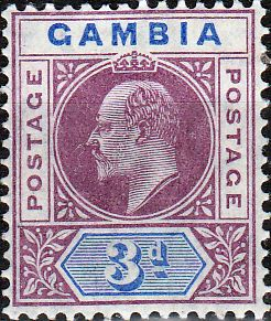 Gambia 1904 King Edward VII Head SG 61 Fine Mint