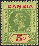 Gambia 1912 King George V SG 102 Fine Mint