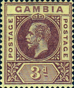 Gambia 1912 King George V SG 91a Fine Mint