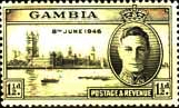Gambia 1946 King George VI Victory SG 162 Fine Mint