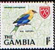 Gambia 1966 Birds SG 240 BIue-bellied Roller Fine Mint