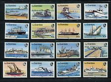 Gambia 1983 River Craft Set Fine Mint