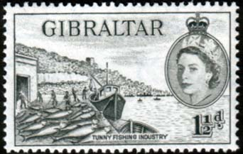Gibraltar 1953 SG 147 Fish Canneries Fine Mint SG 147 Scott 134 Stamp Stamps