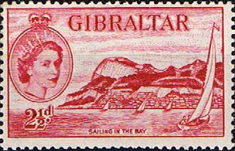 Stamps Gibraltar 1953 SG 146 Sailing in Bay Fine Mint Scott 136