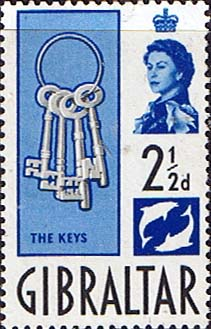 British Europe Stamps Stamp Gibraltar 1960 SG 163a The Keys Fine Mint SG 163a Scott 150