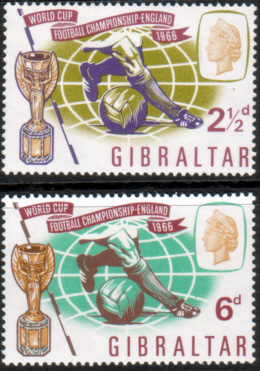 Gibraltar 1966 Football World Cup Set Fine Mint