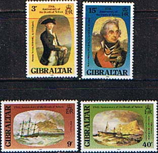 Stamps of Gibraltar 1980 Nelson Set Fine Mint