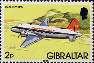 Stamps Gibraltar 1982 Aircraft Set Fine Mint SG 461 Scott 417
