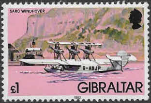 Stamps Gibraltar 1982 Aircraft Set Fine Mint