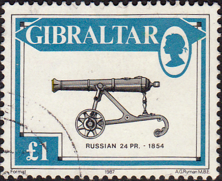 Stamps Gibraltar 1987 Guns SG S74 Fine Mint Scott 513
