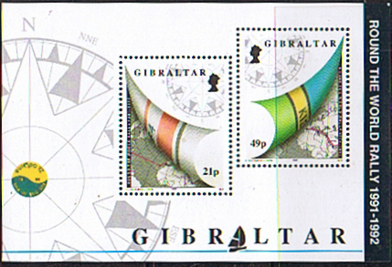 Stamps Gibraltar 1992 Round the World Yacht Rally Miniature Sheet Fine Mint SG 681 Scott 617