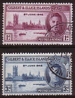 Gilbert and Ellice Islands 1946 King George VI Victory