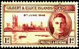 Gilbert and Ellice Islands 1946 King George VI Victory SG 55 Fine Mint