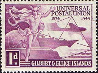 Gilbert and Ellice Islands 1949 Universal Postal Union SG 59 Fine Mint