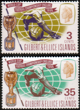 Gilbert and Ellice Islands Stamps 1966 Football World Cup