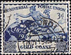 Gold Coast 1949 UPU SG 151 Fine Used