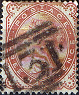 Postage Stamp Stamps Great Britain 1880 Queen Victoria SG 167 Fine Used Scott 80
