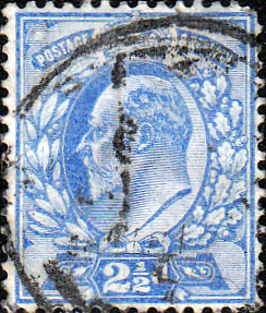 Postage Stamp Great Britain 1902 King Edward VII SG 225 Fine Mint Scott 135