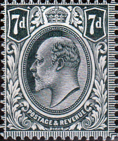 British postage Stamp Stamps Great Britain 1902 King Edward VII SG 245 Fine Mint