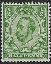 British stamps Great Britain 1911 King George V Head SG 346 Fine Used Scott 158A