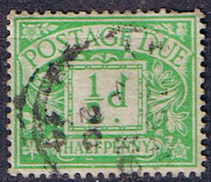 Stamps of Great Britain 1914 Post Due SG D 2 Fine Used Scott J 2