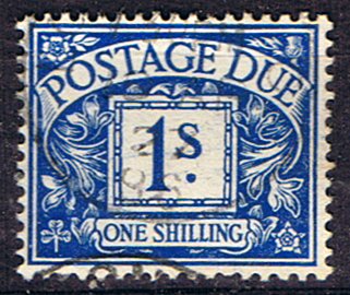 Stamps of Great Britain 1924 Post Due SG D 17 Fine Used Scott J 16