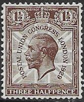 Postage Stamp Stamps Great Britain 1924 King George V British Empire Exhibition Fine Used SG 436 Scott 207