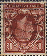 British Stamps Stamp Great Britain 1934 King George V Head SG 441wi Fine Used Scott 212 Watermark Inverted