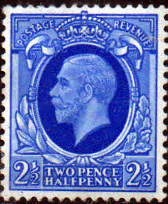 British Stamp Stamps Great Britain 1934 King George V Head SG 443 Fine Used Scott 214
