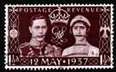 Great Britain 1937 King George VI Coronation Fine Used