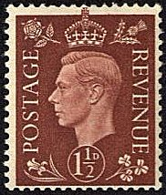 Great Britain 1937 King George VI Head SG 464 Fine Mint