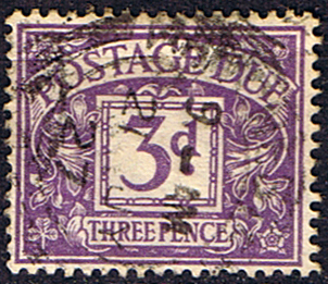 Stamps of Great Britain 1374 Post Due SG D 30 Fine Used Scott J 21