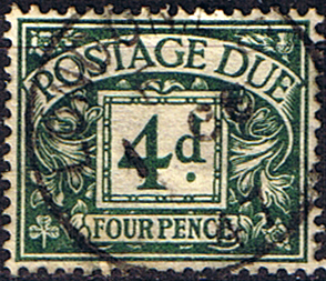 Stamps of Great Britain 1374 Post Due SG D 31 Fine Used Scott J 22