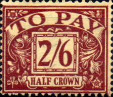 Stamps of Great Britain 1937 Post Due SG D 33 Fine Used Scott J 24