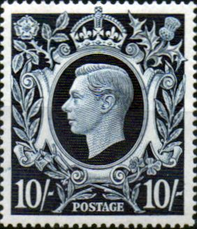 Great Britain 1939 King George VI Head High Values SG 478 Fine Mint