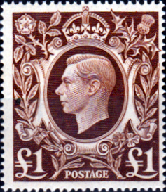 Great Britain 1939 King George VI Head High Values SG 478b Fine Mint