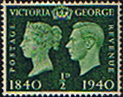 Great Britain 1940 Centenary of First Adhesive Postage Stamps SG 479 Fine Mint