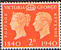 Great Britain 1940 Centenary of First Adhesive Postage Stamps SG 482 Fine Mint
