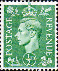 Great Britain 1941 King George VI Head SG 485 Fine Mint