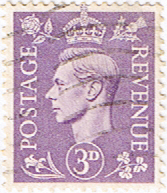 Stamps Great Britain 1941 King George VI Head SG 490 Fine Used SG 490 Scott 263
