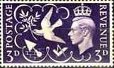 Great Britain Stamps 1946 Victory Peace